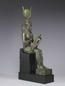 Isis with Horus the Child.  600-643 BCE.